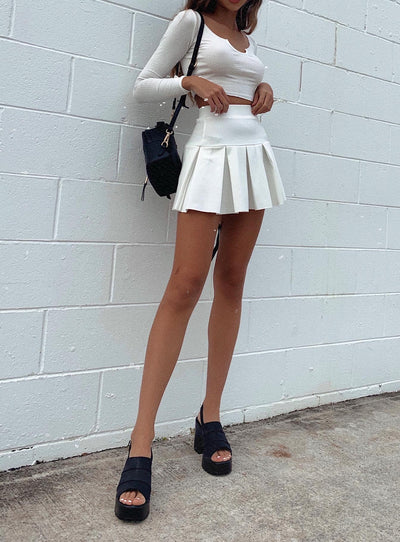 Rescue Me Pleat Mini Skirt