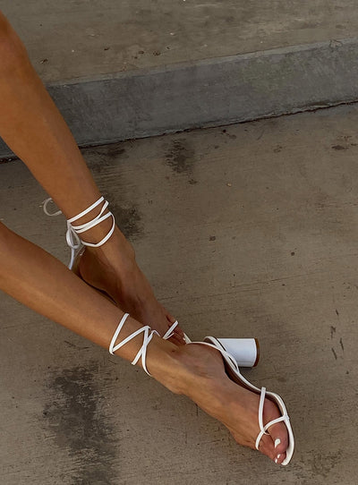 The Lena Heels White
