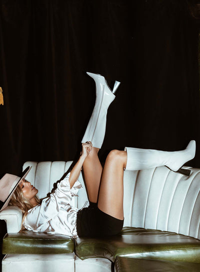 The Jessa Boots White