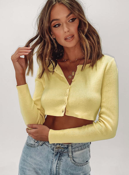 The Michael Top Yellow by Princess Polly, available on princesspolly.com for $47 Kendall Jenner Top SIMILAR PRODUCT