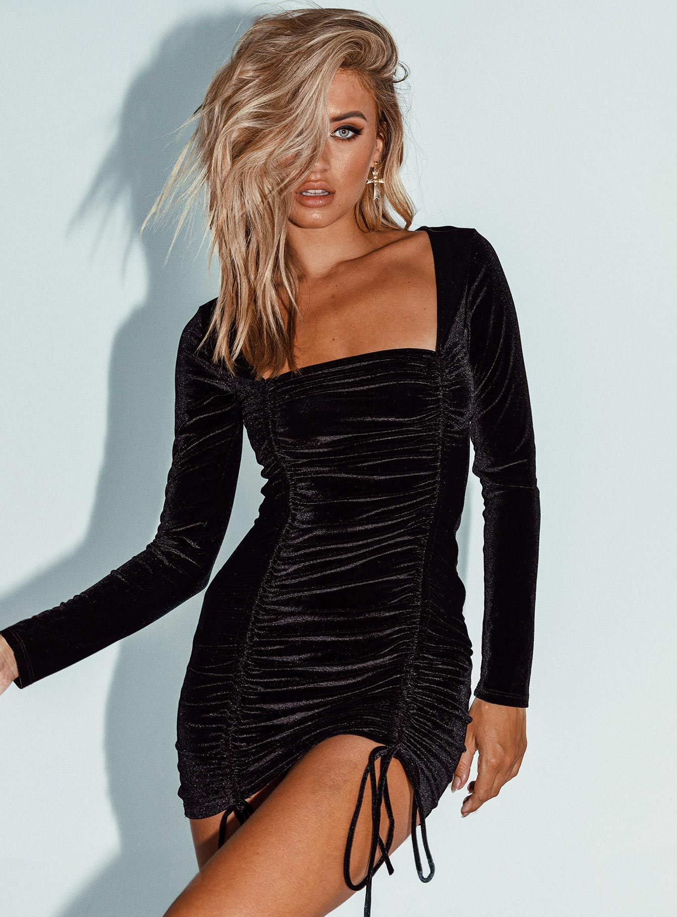 Velvet Embers Mini Dress