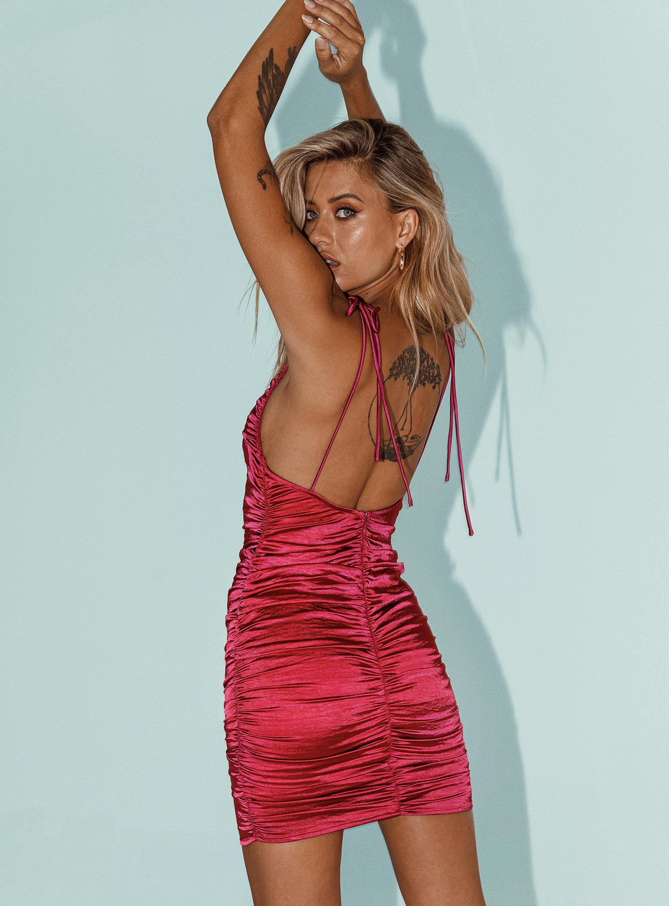Wild Wild West Mini Dress Magenta
