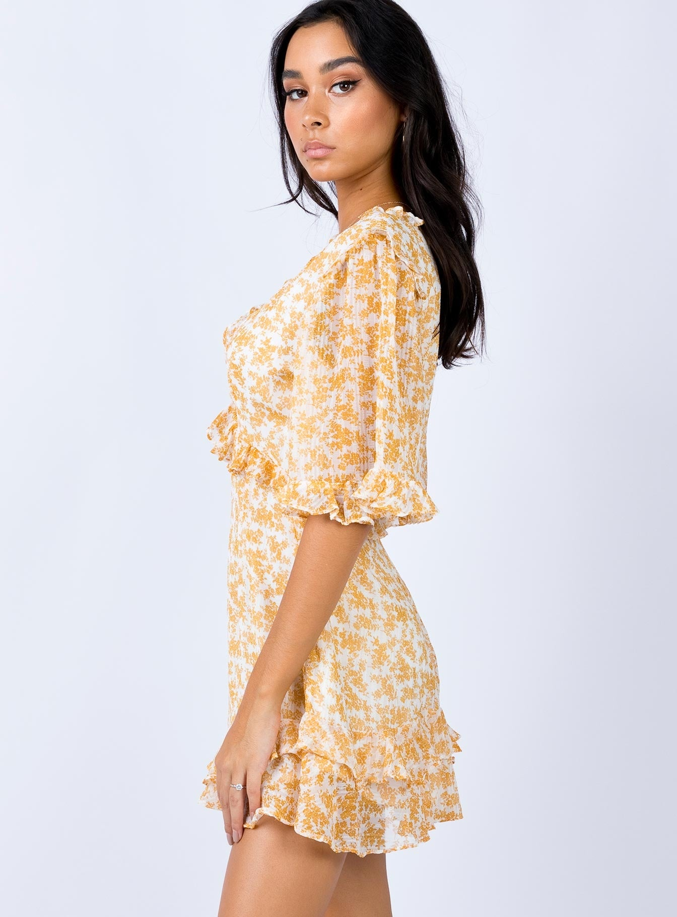 Appel Mini Dress Mustard