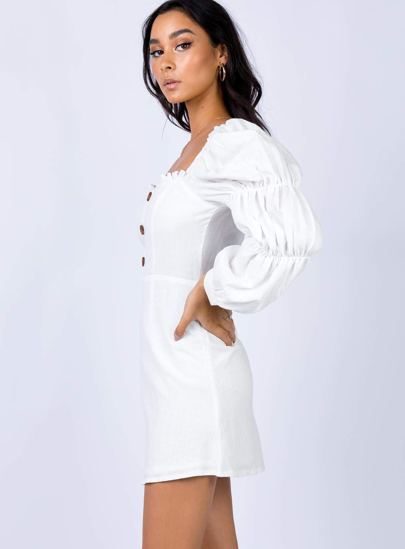 Hopman Mini Dress White