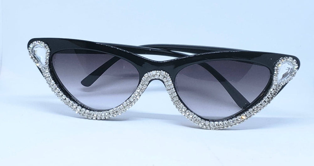 Vintage Retro Half Moon Cateye Sunglasses