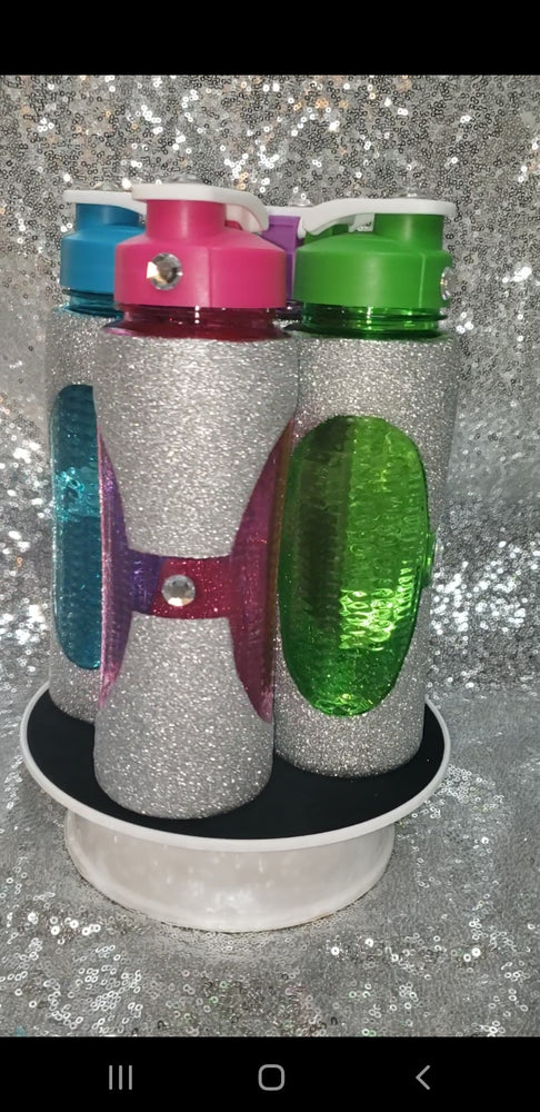 Glitter Water Bottle with Rhinestones