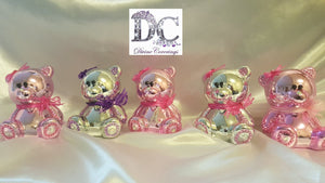 Metallic Teddy Bear Coin Bank Baby Gift