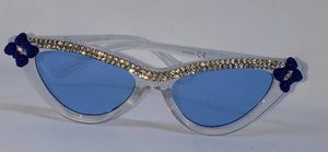 Retro Cat eye Girls Bowtie Sunglasses, Blue