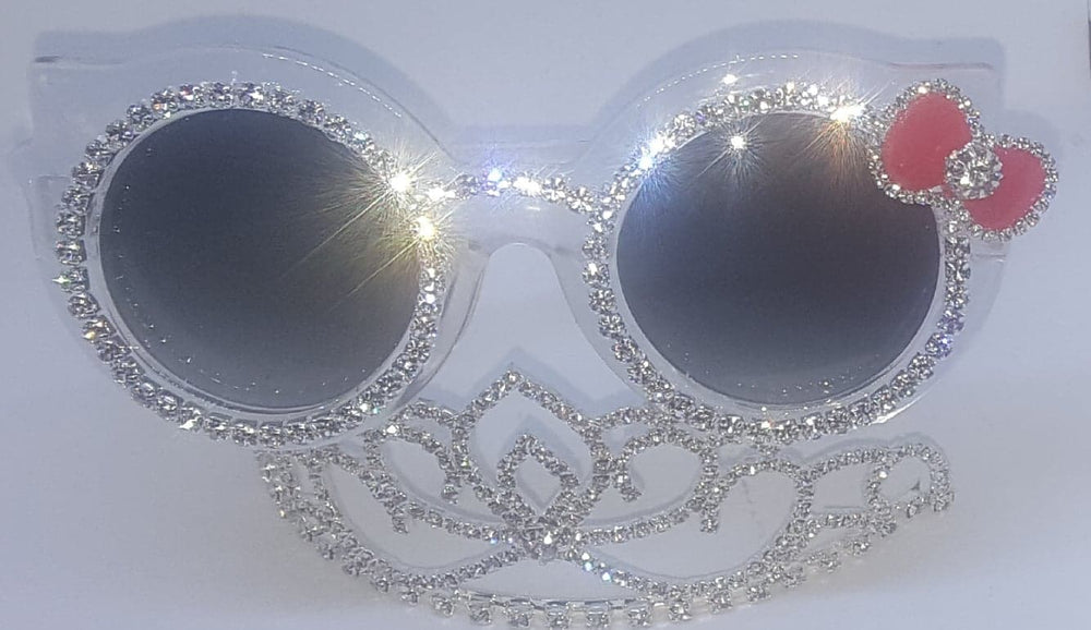 Round Cat Eye Girls Bowtie Sunglasses