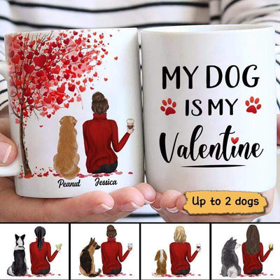 AOP Mugs Valentine Life Is Better With Dog Personalized Mug 11oz