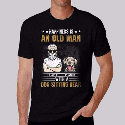 Apparel An Old Man And Dog Sitting Near Personalized Shirt