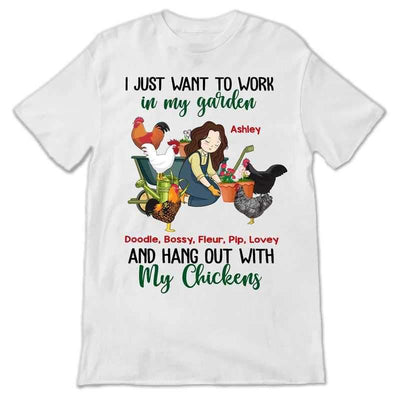 Apparel Hang Out With Chickens In Garden Chibi Personalized Shirt