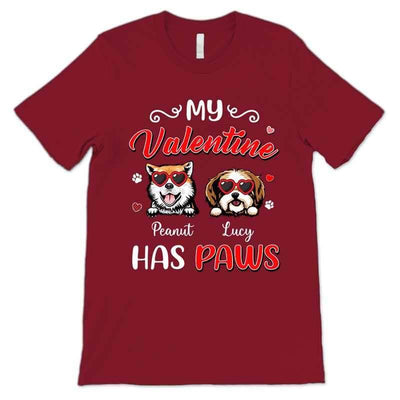 Apparel My Valentine Has Paws Personalized Shirt