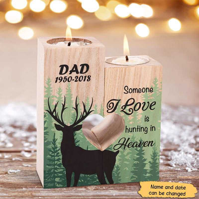 Candle Holder Hunting In Heaven Memorial Personalized Candle Holder Onesize