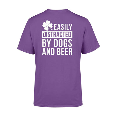 Clothing Dogs - Easily Distracted By Dogs And Beers St Patrick Day Shirt - Standard T-shirt - DSAPP