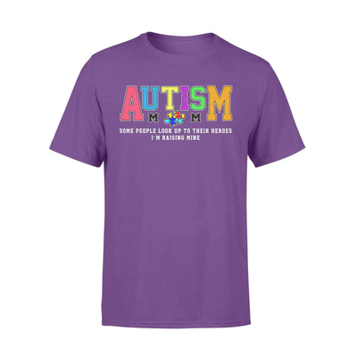 Clothing Raising My Hero Autism Shirt - Standard T-shirt - DSAPP S / Purple