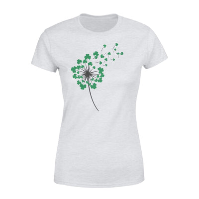 Clothing Shamrock Dandelion St Patrick Shirt - Standard Women's T-shirt - DSAPP XS / Heather Grey