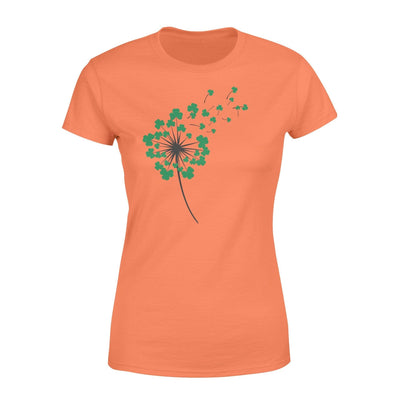 Clothing Shamrock Dandelion St Patrick Shirt - Standard Women's T-shirt - DSAPP XS / Orange