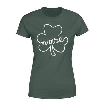 Clothing Shamrock Nurse St Patrick Day Shirt - Standard Women's T-shirt - DSAPP XS / Forest