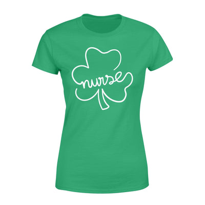 Clothing Shamrock Nurse St Patrick Day Shirt - Standard Women's T-shirt - DSAPP XS / Kelly