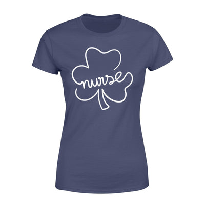 Clothing Shamrock Nurse St Patrick Day Shirt - Standard Women's T-shirt - DSAPP XS / Navy