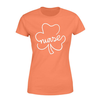 Clothing Shamrock Nurse St Patrick Day Shirt - Standard Women's T-shirt - DSAPP XS / Orange