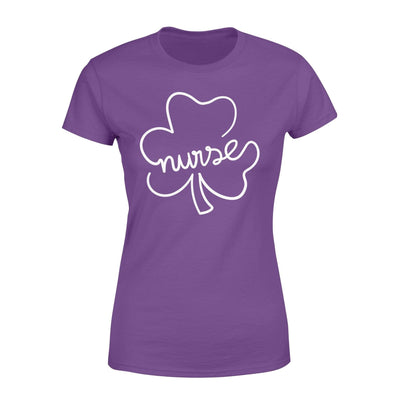 Clothing Shamrock Nurse St Patrick Day Shirt - Standard Women's T-shirt - DSAPP XS / Purple