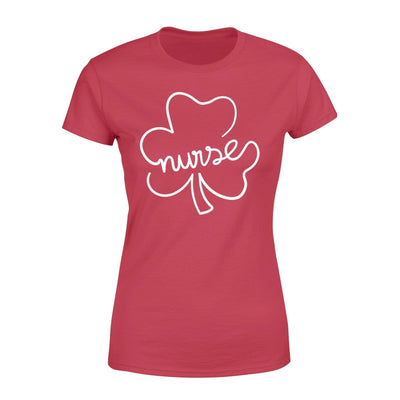 Clothing Shamrock Nurse St Patrick Day Shirt - Standard Women's T-shirt - DSAPP XS / Red