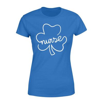 Clothing Shamrock Nurse St Patrick Day Shirt - Standard Women's T-shirt - DSAPP XS / Royal