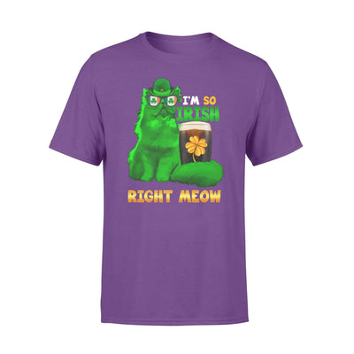 Clothing So Irish Right Meow Shirt - Standard T-shirt - DSAPP S / Purple