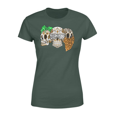 Clothing Three Skulls St Patrick Day Shirt - Standard Women's T-shirt - DSAPP XS / Forest