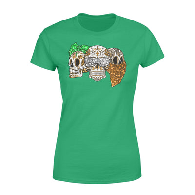 Clothing Three Skulls St Patrick Day Shirt - Standard Women's T-shirt - DSAPP XS / Kelly