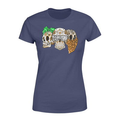Clothing Three Skulls St Patrick Day Shirt - Standard Women's T-shirt - DSAPP XS / Navy