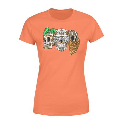 Clothing Three Skulls St Patrick Day Shirt - Standard Women's T-shirt - DSAPP XS / Orange