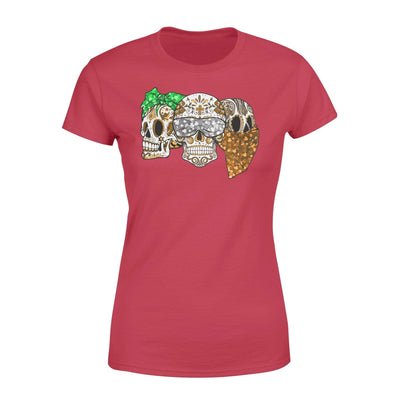 Clothing Three Skulls St Patrick Day Shirt - Standard Women's T-shirt - DSAPP XS / Red