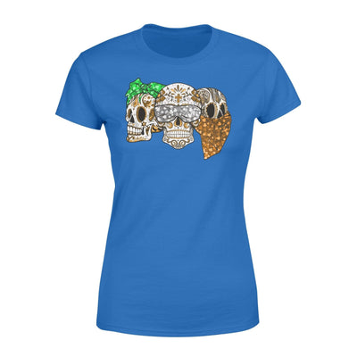 Clothing Three Skulls St Patrick Day Shirt - Standard Women's T-shirt - DSAPP XS / Royal
