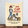 "Fleece Blanket The Cat Whisperer Woman and Funny Cat Personalized Fleece Blanket 60"" x 80"" - BEST SELLER"