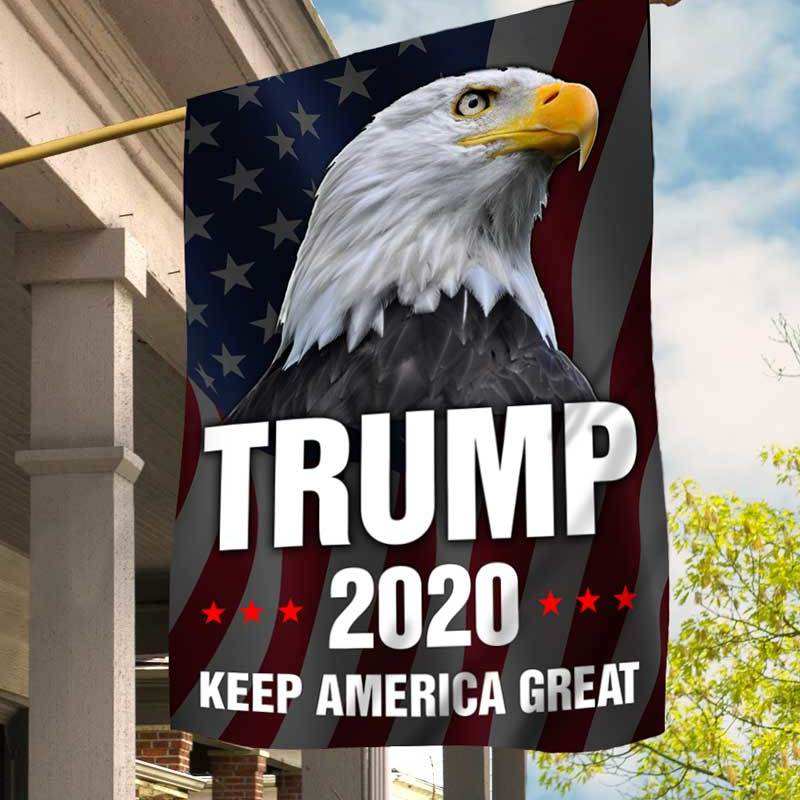 "House Flag Trump 2020 Keep America Great House Flag 28""x40"""