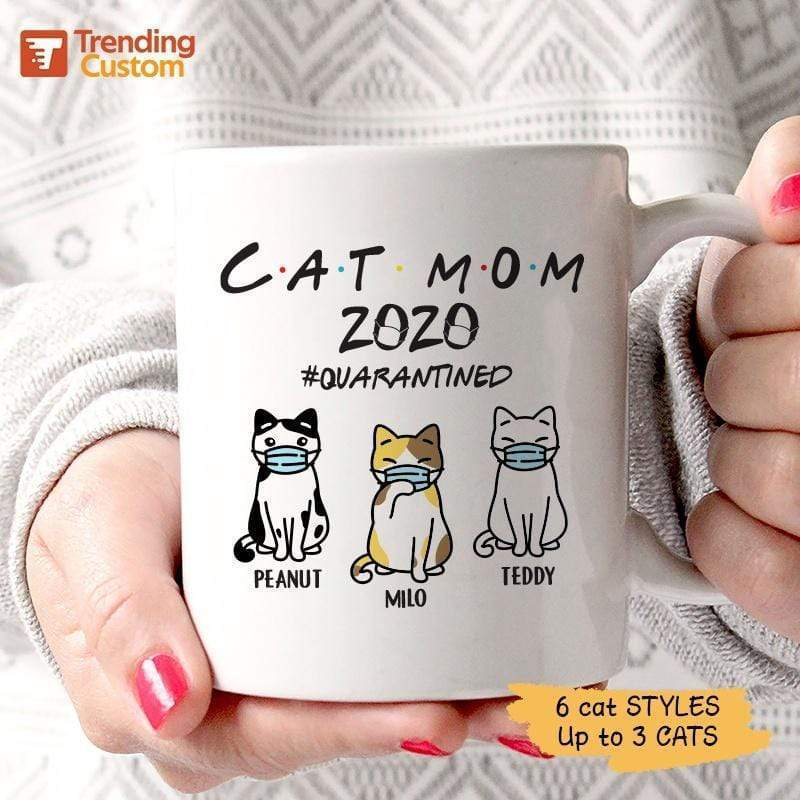 Mugs Cat Mom 2020 FR Personalized Mug 11oz