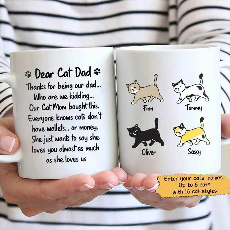Mugs My Cat Mom Say She Loves You Cat Dad Personalized Mug 11oz