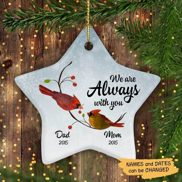 Red Cardinal Ornament I Am Always With You Personalized Memorial Ornament Remembarance Keepsake Christmas Family Ornament Vintage Truck