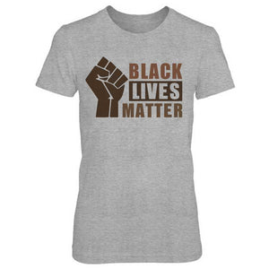 Black Lives Matter Half Hand Ladies' T-Shirt