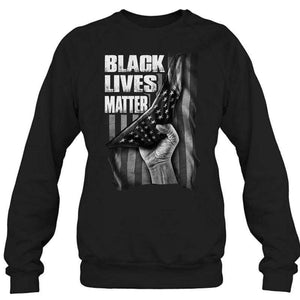 Black Lives Matter Nation Flag Men's Sweatshirt