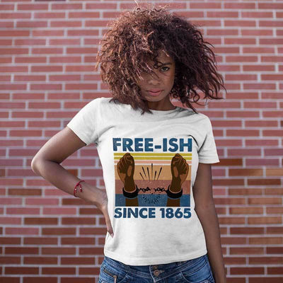 T-shirts Free-ish since 1865 Shirt Classic Tee / S / White