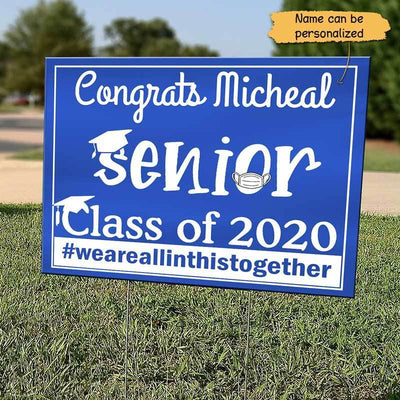 Yard Sign Class Of 2020 Senior Personalized Yard Sign