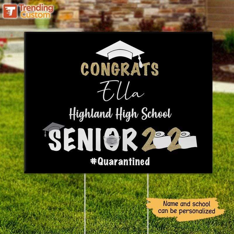 Yard Sign Congrats Senior School And Name Personalized Yard Sign 1 piece