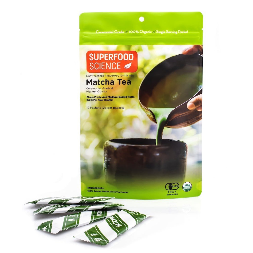 Organic Japanese Ceremonial Grade Matcha Tea Powder Packets