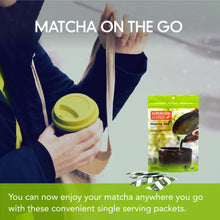 Load image into Gallery viewer, Organic Japanese Ceremonial Grade Matcha Tea Powder Packets