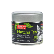 Load image into Gallery viewer, Organic Japanese Ceremonial Grade Matcha Tea Powder Tin