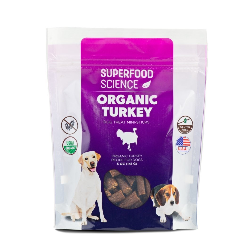 Organic Turkey Dog Treats With Agaricus Bio®